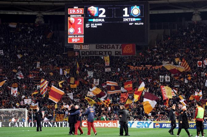 La partita è finita: la festa per Roma comincia (Ansa)