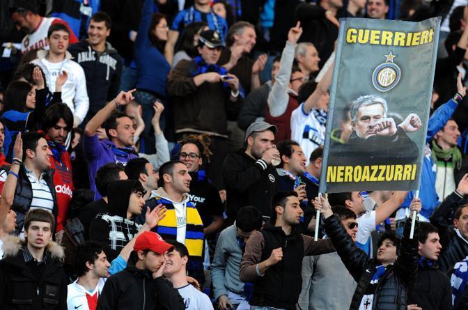Roma-Inter 2-1: i tifosi nerazzurri (Ansa)