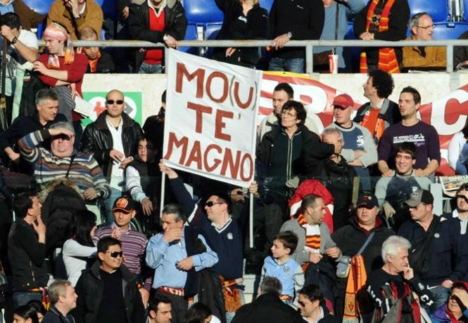 Roma-Inter 2-1: tifosi romanisti (Infophoto)