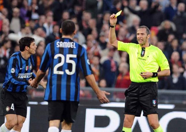 Roma-Inter 2-1: giallo a Zanetti (Infophoto)
