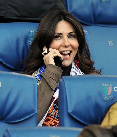 Roma-Inter 2-1:  la gioia di Sabrina Ferilli in tribuna (Liverani)