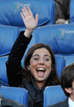 Roma-Inter 2-1: la gioia di Rosella Sensi, presidente della Roma