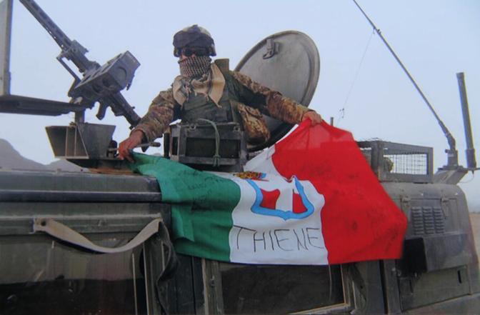 Matteo Miotto in un Afghanistan (Ansa)