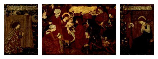Burne-Jones Edward, «L'annunciazione e l'adorazione dei Magi», 1861 olio su tela