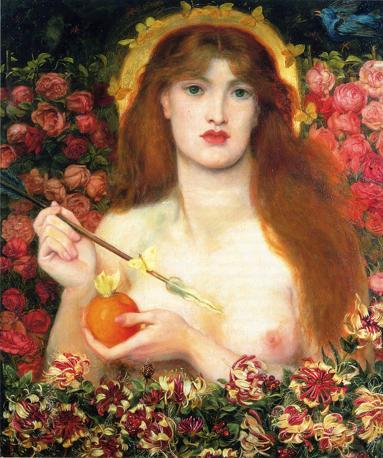 Dante Gabriel Rossetti «Venus Verticordia», 1864-1868 Olio su tela