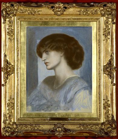 Dante Gabriel Rossetti « Ritratto di Jane Morris», 1868-74 Pastello su cartone