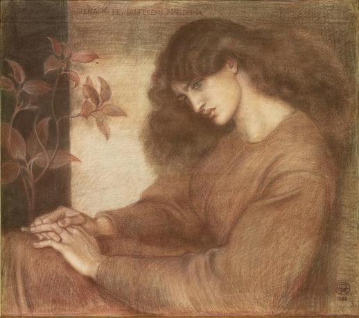 Dante Gabriel Rossetti «Pia de' Tolomei», 1868 Gessi colorati su carta
