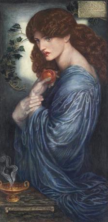 Dante Gabriel Rossetti «Proserpina», 1878 Acquerello e gouache su carta montata su tavola
