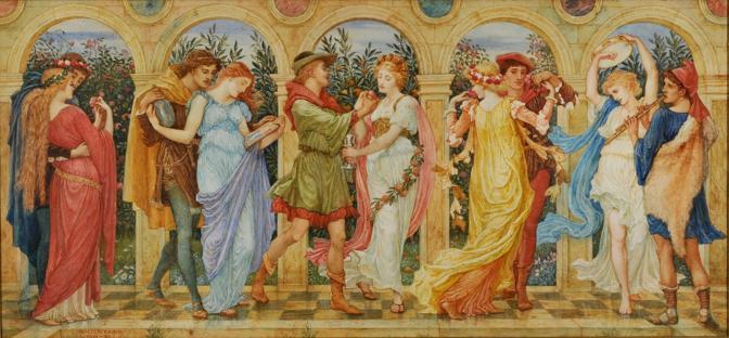 Walter Crane «La danza dei Cinque Sensi», 1891-93 Acquarello