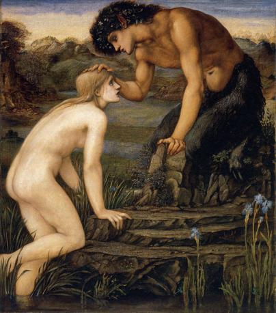 Edward Burne Jones «Pan e Psiche», 1872-74 Olio su tela