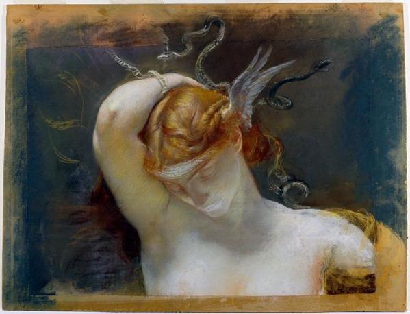 Giulio Aristide Sartorio «Studio per la Testa della Gorgone», 1895 Pastello