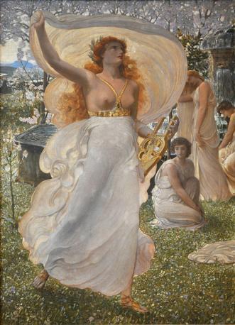 Adolfo De Carolis «Le Castalidi», 1905 Tempera e decorazioni a rilievo in gesso dorato su tela