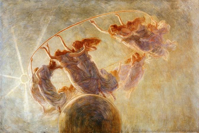Gaetano Previati «La Danza delle Ore», 1899 c. Tempera su tela