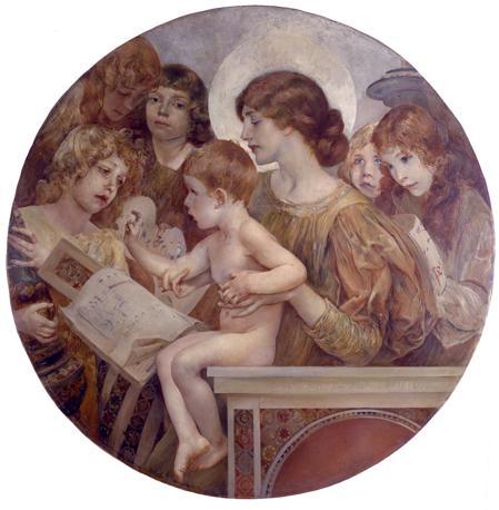 Giulio Aristide Sartorio «Madonna degli Angeli» ( Magnificat), 1895 Olio su tela