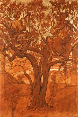Adolfo De Carolis Allegoria, 1900-1903 Tempera su carta intelata