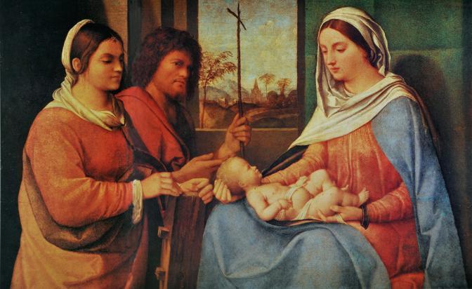 IL MITO - Sebastiano del Piombo «Madonna con Bambino e i Santi Caterina e Giovanni Battista», c.1505-08 Olio su tavola