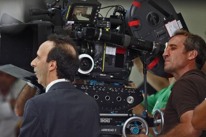 Roberto Benigni sul set (Jpeg)