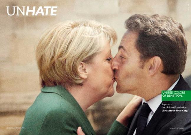 La cancelliera tedesca Angela Merkel e il presidente francese Nicholas Sarkozy