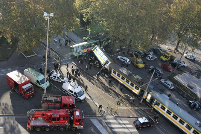 La scene dell'incidente vista dall'alto (Eidon/Tersigni)