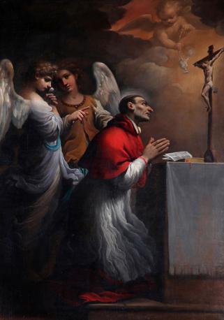 San Carlo Borromeo in orazione, 1613-14; Cento, Collezione Privata