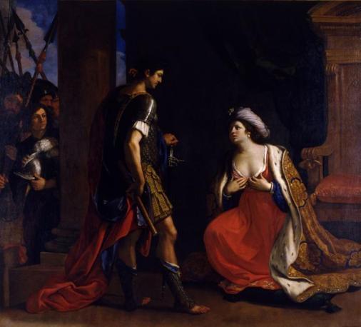 Cleopatra davanti ad Ottaviano Augusto-1640;Roma, Pinacoteca Capitolina