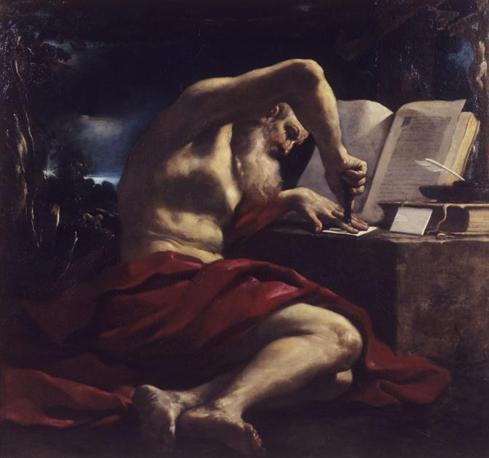 San Girolamo in atto di sigillare una lettera 1618 ca. Olio su tela