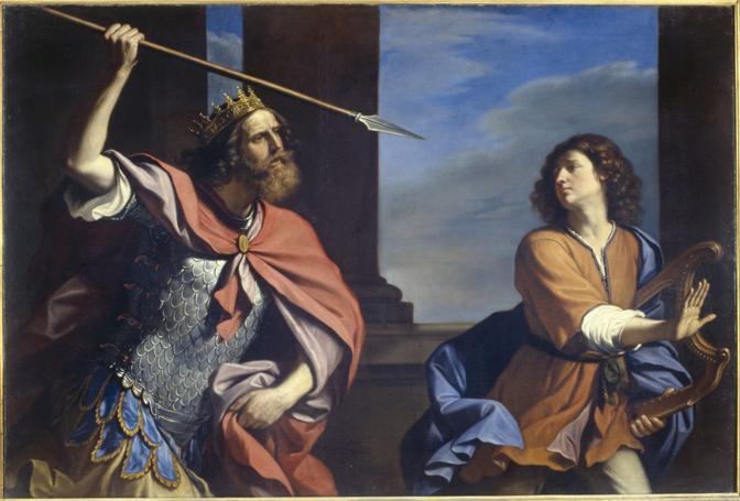 Saul tenta di uccidere David 1646; Roma Palazzo Barberini