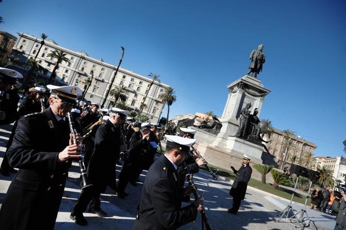 Roma: inaugurazione di piazza Cavour dopo la riqualificazione, la banda suona alla festa  (Jpeg)