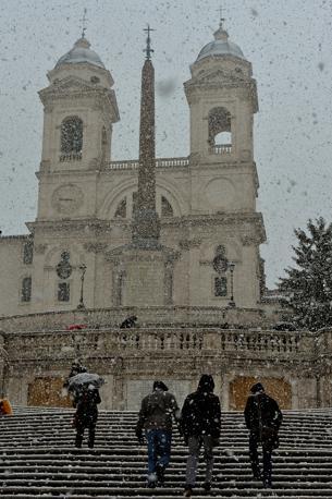 Neve a Trinità dei Monti pagna (Imagoeconomica)