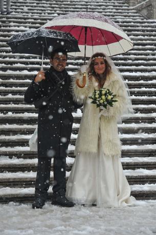 Sposi al Campidoglio (Imagoeconomica)