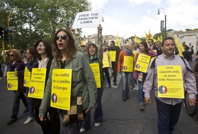 Roma 25 aprile 2012  manifestazione organizzata dai radicali per