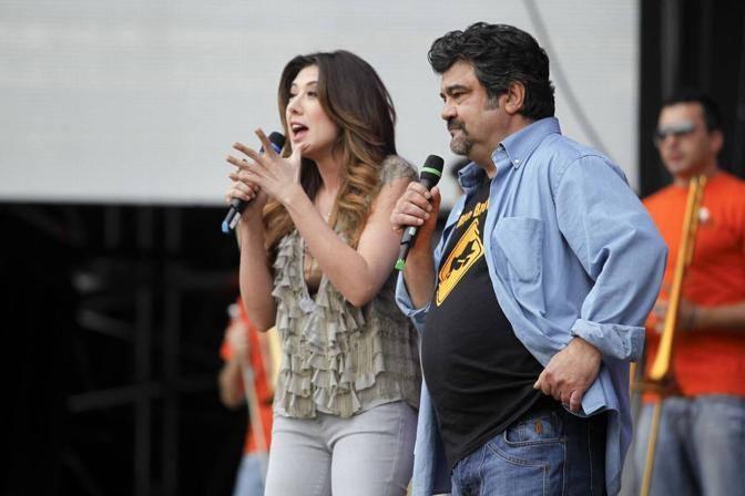 Virginia Raffaele e Francesco Pannofino (Lapresse)