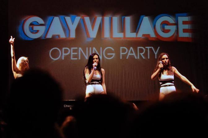 Il gruppo Serebro, trio di cantanti russe, all'inaugurazione del Gay Village (Jpeg Fotoservizi)
