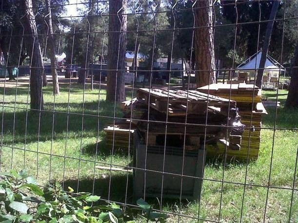 Recinzioni e legni ammassati (Foto Jpeg)