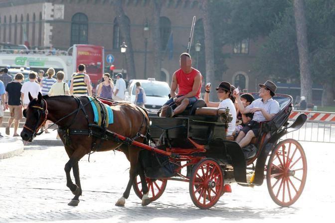 Foto con il cellulare durante la passeggiata in carrozza (foto Jpeg)