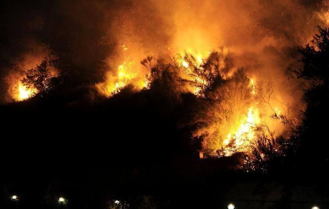 La collina interessata dalle fiamme (Jpeg)