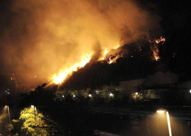 L'incendio di Monte Ciocci (Jpeg)