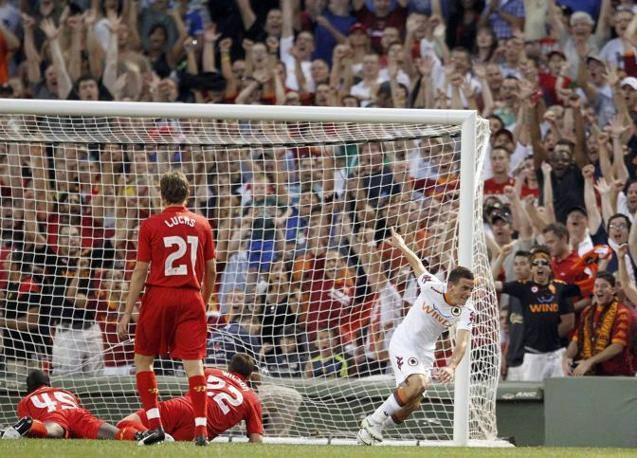 Alessandro Florenzi esulta dopo il gol (Foto Reuters)