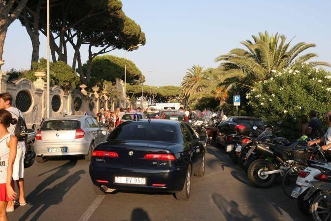Il lungomare di Terracina dove � stato ucciso il boss della camorra Gaetano Marino (foto Proto)