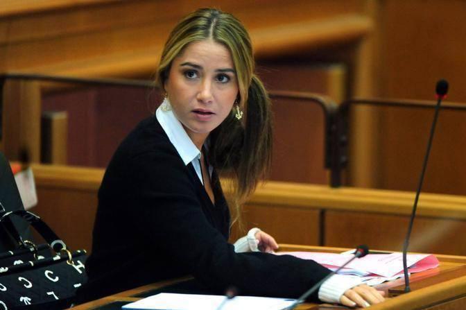 La consigliera Pdl Cappellaro in un suo intervento alla Pisana precedente alle dimissioni della Polverini