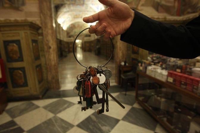 Le chiavi di accesso alla struttura: tra originali e copie ce ne sono tremila (foto Benvegù-Guaitoli © Musei Vaticani - Tutti i diritti riservati)