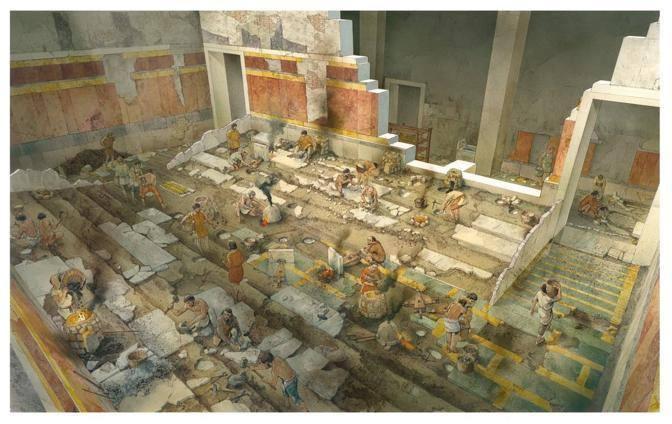 La ricostruzione dell'Auditorium di Adriano (©Soprintendenza beni archeologici Roma - InkLink Firenze)