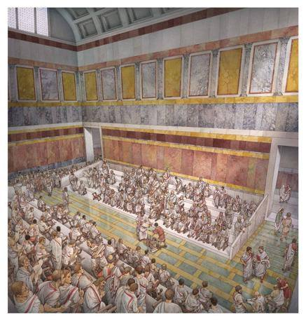 L'Auditorium ai tempi di Adriano (©Soprintendenza beni archeologici Roma - InkLink Firenze)