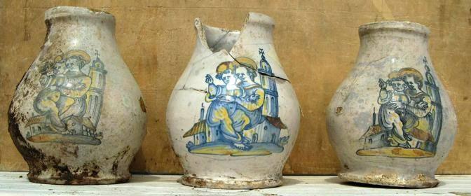 Maioliche rinascimentali trovate nel sito (©Soprintendenza beni archeologici Roma - InkLink Firenze)