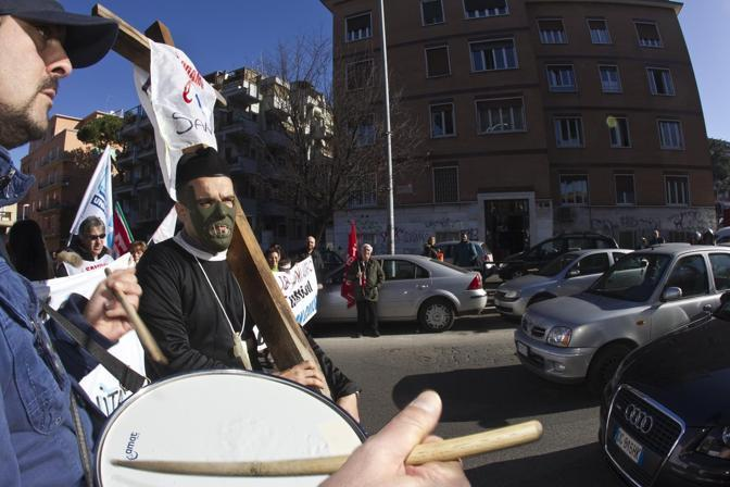 La manifestazione (foto Jpeg)