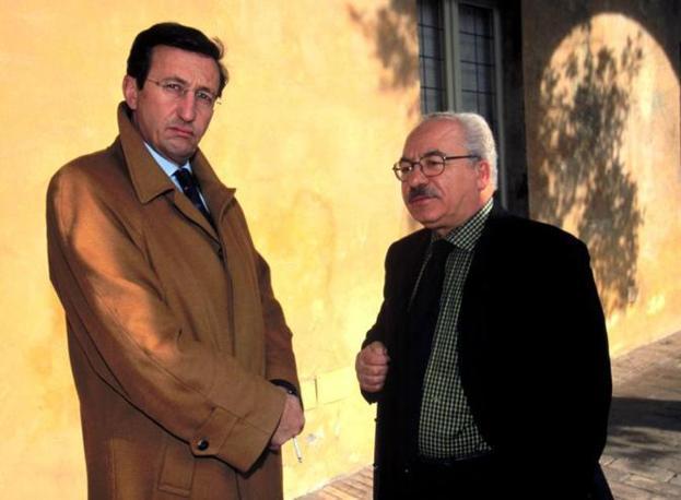 Nel 2000 con Gianfranco Fini (Foto La Presse)