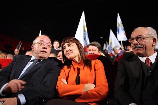 Nel 2010 con Francesco Storace e Renata Polverini (foto Eidon)