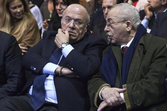 Nel febbraio del 2013 con Francesco Storace (Foto La Presse)