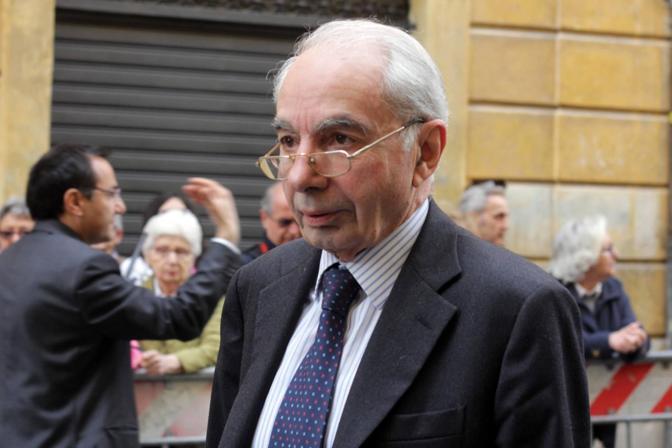 Giuliano Amato in via Tasso (foto Jpeg)