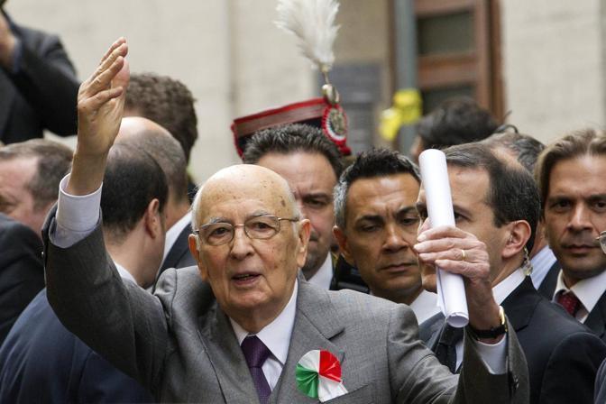 Il 25 Aprile, 68esimo anniversario della Liberazione, il Presidente della Repubblica, Giorgio Napolitano, al Museo di via Tasso (foto Jpeg)